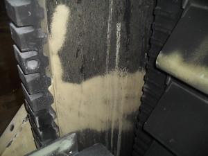 Beseitigung der Brandrückstände ohne die Grundfarbe zu verletzen