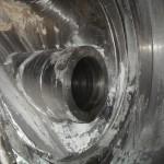Mischbehälter vor der Reinigung mittels Trockeneisstrahlen