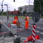 Beseitigung von Straßenmakierung 1
