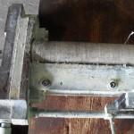 Komponente einer Klebevorrichtung 1 vor der Reinigung