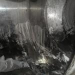 Mischbehälter vor der Reinigung