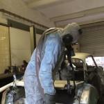 Reinigung einer BMW 3200 CS Karosse