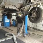 Unterbodenschutzentfernung VW T3 Oldtimer