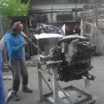 Reinigung eines Porsche - Motors