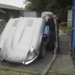 Motorreinigung an einem Jaguar X Type 12 Zyl.
