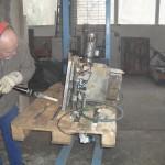 Reinigung eines Maschinenbauteiles