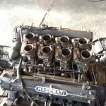 Maserati Motor vor der Trockeneisbehandlung