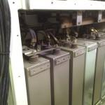 Elektronische Bauteile in der Lok vor dem Trockeneisstrahlen 1