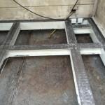 Boden einer Strahlkabine nach der Trockeneisreinigung