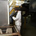 Reinigung von E-Lok Komponenten