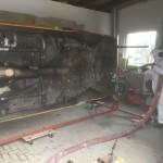 Unterbodenschutzentfernung an einem Opel Manta