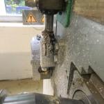 Papierverarbeitungsmaschine vor der Trockeneisreinigung