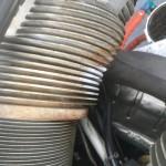 Doppeldecker Sternmotor vor der Trockeneis Reinigung