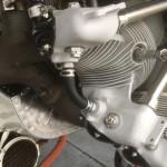 Doppeldecker Sternmotor nach der Trockeneis Reinigung