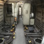 Trockeneisreinigung eines ICE Triebwagens